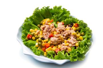 insalata di tonno con mais