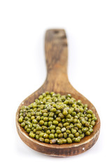 Mung bean on spoon