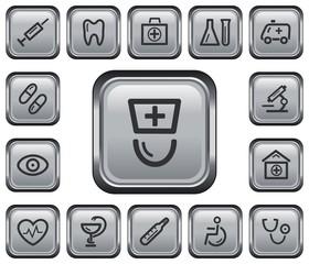 Medical button set