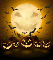 Spooky halloween night, hollyday background.