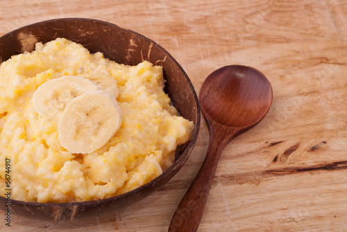 boiled corn porridge