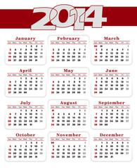 Calendar 2014 Red
