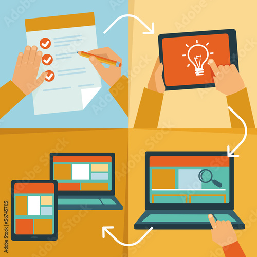 Vector web design process