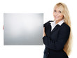 Business woman  with message board