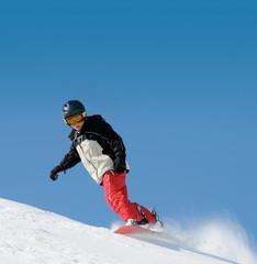 Junger Snowboardfahrer