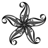 Vector Abstract Sea Starfish. Patterned design