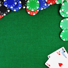 chips for gamblings and cards