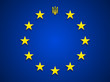 Ukraine Trident at EU flag