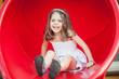 Young girl portrait on slipway.