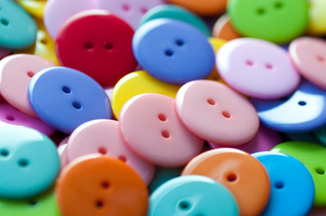 Bright, shiny buttons
