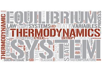 Thermodynamics Word Cloud Concept