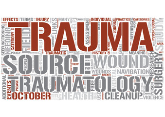 Traumatology Word Cloud Concept