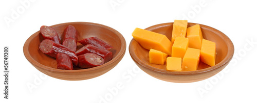 Beef Cheese Sticks Sliced Ceramic Dishes