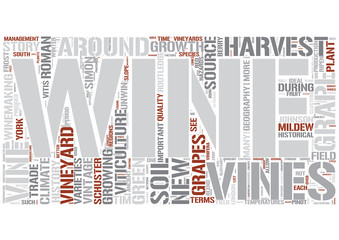 Viticulture Word Cloud Concept