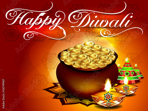 diwali background with Floral