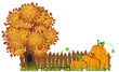 Autumn Tree and pumpkins