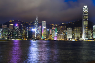 Hong Kong island by night