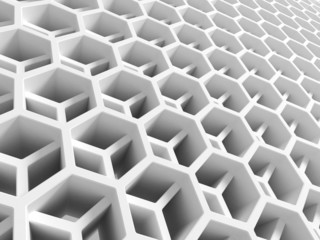 Abstract white double honeycomb structure