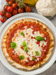 margherita pizza with buffalo mozzarella
