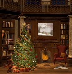 Elegant christmas room