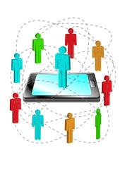 Telekommunikation, Vernetzung, Smartphone, Team, Freunschaften,