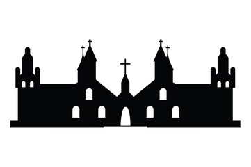 Christian churches silhouette