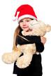 Mädchen mit Teddy Weihnachten Kind