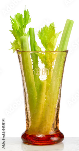 Celery sticks in crackle glass celery vase
