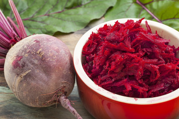red beet grated