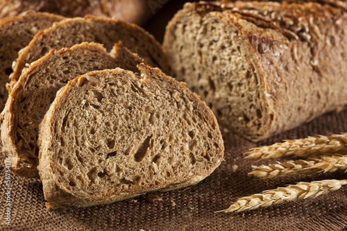 Foto op Plexiglas Bakkerij Fresh Homemade Whole Wheat Bread
