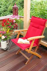 Leseecke, Auszeit auf der Terrasse