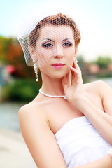Beautiful retro bride