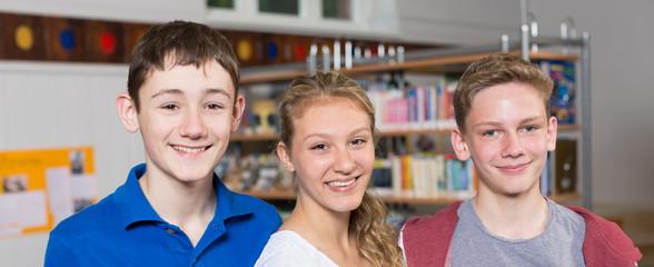 Portrait von Schülern als Panorama