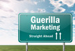 "Highway Signpost ""Guerilla Marketing"""