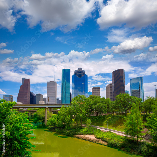Foto op Canvas Texas Houston Texas Skyline with modern skyscapers