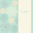 Wedding birthday invitation, floral background, vector