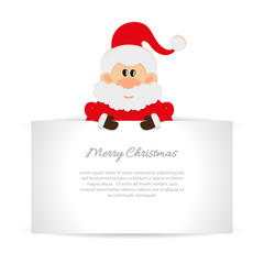 Santa Claus Greeting card with space for text