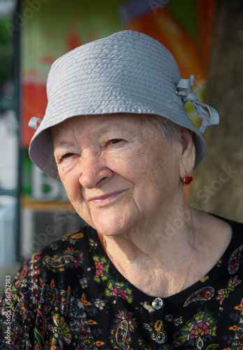 Portrait of the old woman
