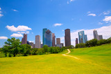 Houston Texas Skyline modern skyscapers and  blue sky poster