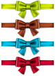 Satin color ribbons. Gift bows.