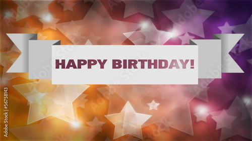 Abstract vector banner. Happy Birthday!