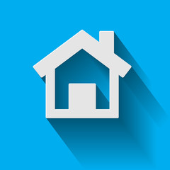 Home Startseite Icon Long Shadow Blau