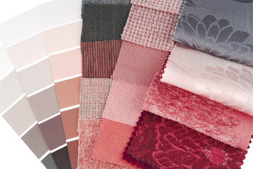 upholstery  tapestry and curtain color selection for interior