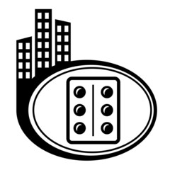 Pills, medication vector city icon