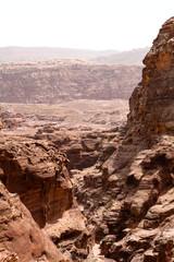 Stony gorge in Petra, Jordan