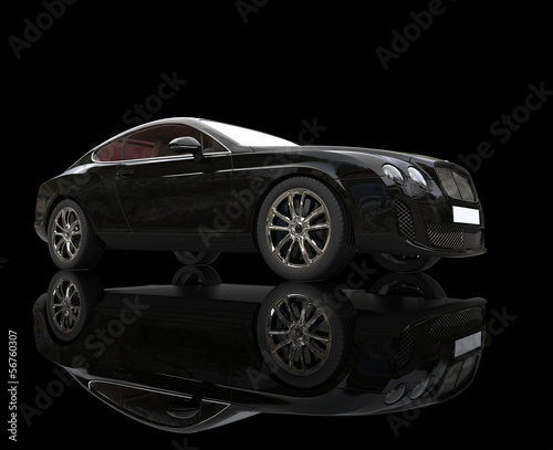 Black Elegant Car On Black Background