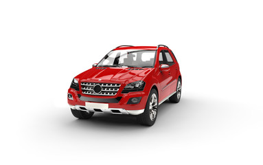 Red Luxury SUV Studio Shot