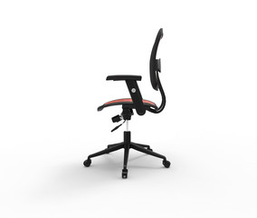 Red Office Chair Side View Variation