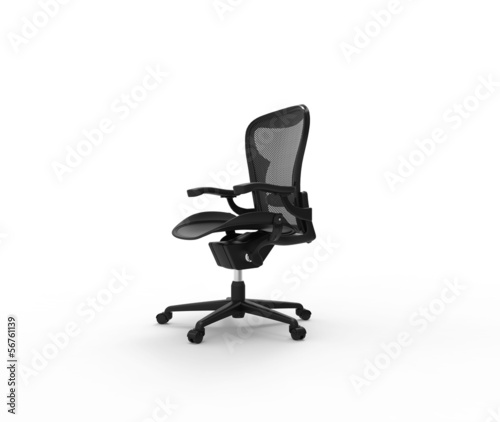 Black Office Chair Side View