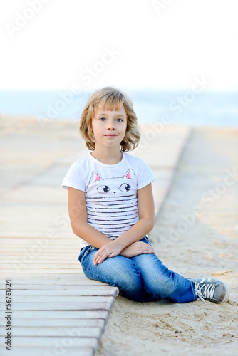 girl near the sea